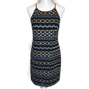 White House Black Market Embroider Dress size 6